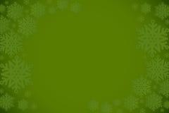 Green snowflake design frame pattern Stock Image