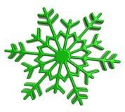 Green snowflake icon Stock Photography