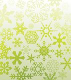 Green snowflakes Stock Photography