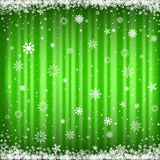 The green snowy background Royalty Free Stock Photos