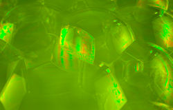 Green Soap Bubbles Royalty Free Stock Photos