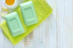 Green soap Royalty Free Stock Photo