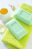 Green soap Royalty Free Stock Photography