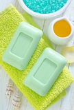 Green soap Stock Photos