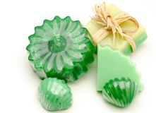 Green soaps Royalty Free Stock Images