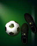 Green soccer background. Soccer background concepts on a green grass Royalty Free Stock Photo