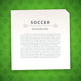 Green Soccer Background with Copy Space Stock Photos