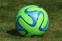 Green soccer ball Stock Photography