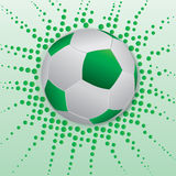 Green soccer ball Royalty Free Stock Image