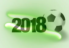 2018 Green Soccer Design. Creative Graphic Design illustration Royalty Free Stock Images