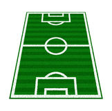 Green Soccer Field Stock Image