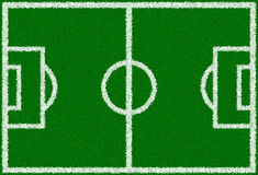 Green Soccer Field Royalty Free Stock Photography
