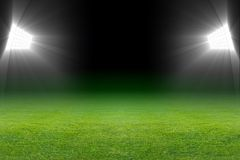 Green soccer field Stock Photography