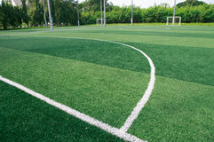 The green soccer field Stock Photography