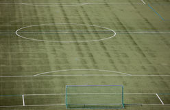 Green soccer field Stock Images