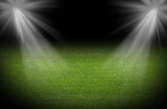 Green soccer field Royalty Free Stock Photos