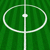 Green Soccer Field Details. European Football (soccer) Field, Whit Grass Texture Royalty Free Stock Images