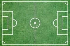 Green soccer field Stock Photos