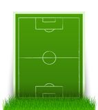 Green soccer field in the grass Royalty Free Stock Photos
