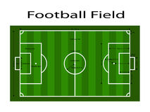 Green soccer field ground line / Green football field ground line. Sport vector illustration. image, jpeg. eps10. Measurements sta Stock Image