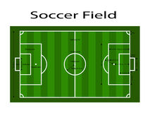 Green soccer field ground line / Green football field ground line. Sport vector illustration. image, jpeg. eps10. Measurements sta Stock Photo