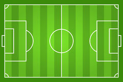 Green soccer field illustration Stock Photos