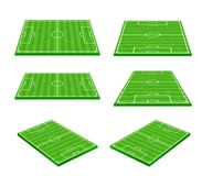 Free Green Soccer Field On White Background 002 Stock Photo - 117930700