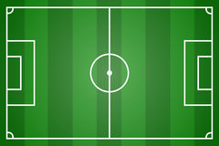 Green soccer field vector Stock Image