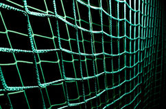 Green soccer goal net Royalty Free Stock Images