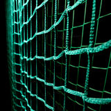 Green soccer goal net Stock Images
