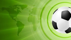 Green soccer sport background with ball Royalty Free Stock Image