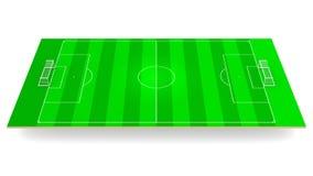 Green soccer stadium 3d rendering vector illustration