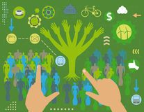 Green society concept Stock Images