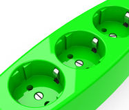 The green sockets Stock Image