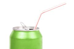 Green soda can Royalty Free Stock Images
