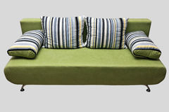 Green sofa. Contemporary green sofa with pillows Royalty Free Stock Photography