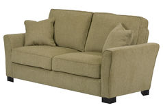 Green sofa. A sofa with white background royalty free stock image