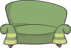 Green sofa Royalty Free Stock Images