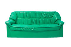 Green sofa armchair isolated on white Stock Photography