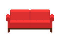 Green sofa. Classic cozy couch. Stock Photos