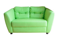 Green sofa isolate Stock Images