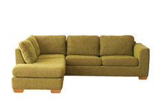 Green sofa isolated on white Stock Photography