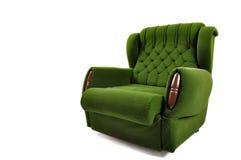 Green Sofa isolated on white studio shot Stock Photos