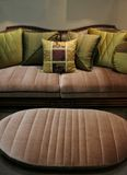Green sofa and matching chair - home interiors stock photos