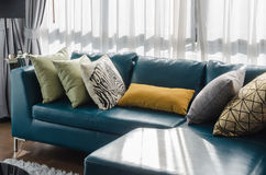 Green sofa in modern living room Stock Photography