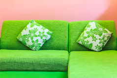 Green sofa Royalty Free Stock Photos