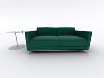 Green sofa and table Royalty Free Stock Photo