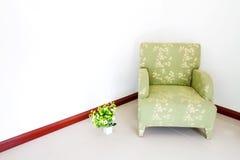 Green sofa Stock Photo