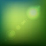Green Soft Colored Abstract Background with Lens. Flare Light. Vector illustration Royalty Free Stock Photography