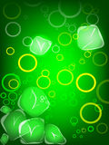 Green soft drink with ice. And bubbles Stock Image